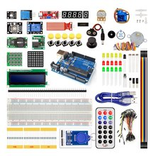 Upgraded Advanced Version Starter Kit The Rfid Learn Suite Kit Lcd 1602 For Arduino Uno R3 Stepper Motor Learning Kit [sintron] uno r3 upgrade kit with motor lcd servo module for arduino avr starter