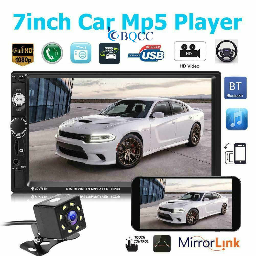 7inch HD Portable Double 2 Car Stereo Audio Bluetooth Touch MP5 Player USB FM Radio Receiver  Accessories