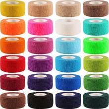 Cinta autoadhesiva deportiva Elastoplast, 12 rollos, vendajes cohesiva para primeros auxilios, 2,5 cm x 4,5 m, Color aleatorio