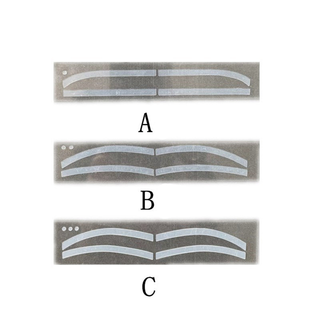 6Pairs Professinal Fashion Disposable Eyebrow Tattoo Shaping Sticker Auxiliary Template Brow Stencil Eye Grooming Makeup Tools 1
