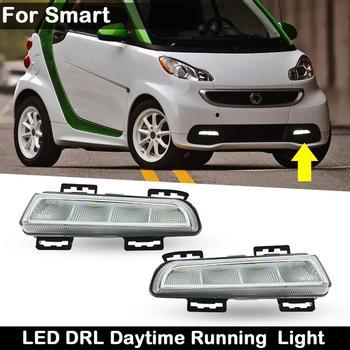 eosuns car styling led star light drl for mercedes benz gle class w166 front grille led logo emblem daytime running light 2Pcs For Smart Fortwo (451) 2013-2015 Clear Lens Car Front Daylight Guide LED DRL Daytime Running Light