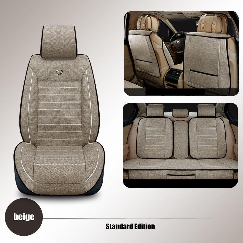 Высококачественные льняные универсальные чехлы для автомобильных сидений для Volkswagen vw passat b5 polo golf tiguan jetta touran, подушка для автомобильных сид