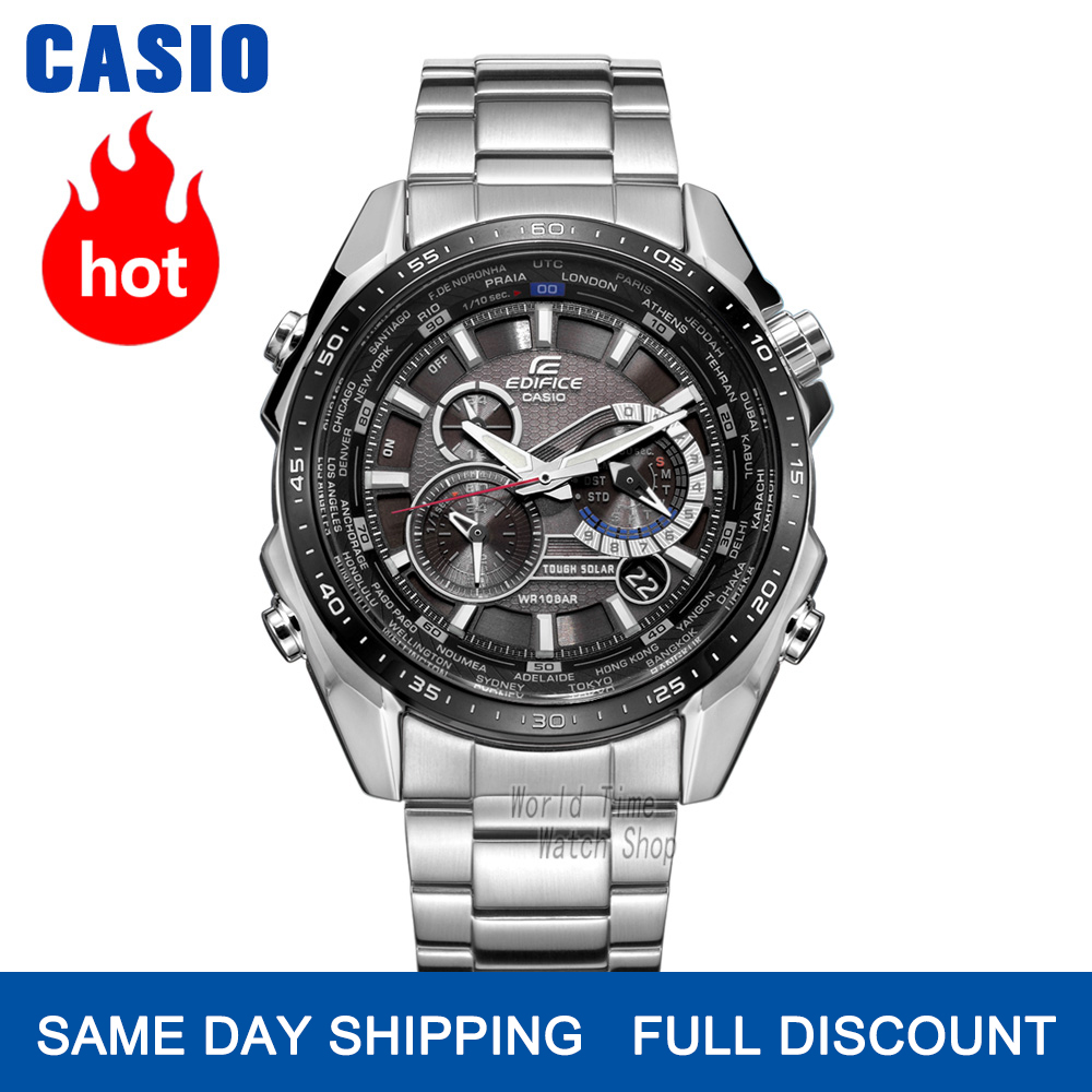 Casio Edifice Watch Men Luxury 100m Waterproof Wrist Watch Chronograph Men Watch Quartz Sport Watche Racing Watches Solar Clocks