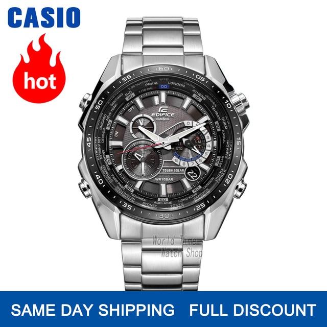 Đồng hồ Casio Edifice đồng hồ nam sang trọng không thấm nước chronograph đồng hồ đeo tay nam đồng hồ đeo tay thạch anh quân đội Đồng hồ đua Quà tặng đồng hồ thể thao cho nam 5 động cơ độc lập Tough Solar часы мужские