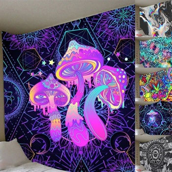 Illusory Art Tapestry Ins Tapestry Household Bedside Decoration Cloth Hanging Tapiz Tapestry Wall Hanging Tapestries Room Decor 1