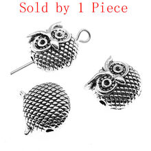 Alibaba Retail Store 1 Piece 10x11x7mm Owl Small Hole Spacers Beads Charms Purse Charms Handmade Gifts Crafts(China)