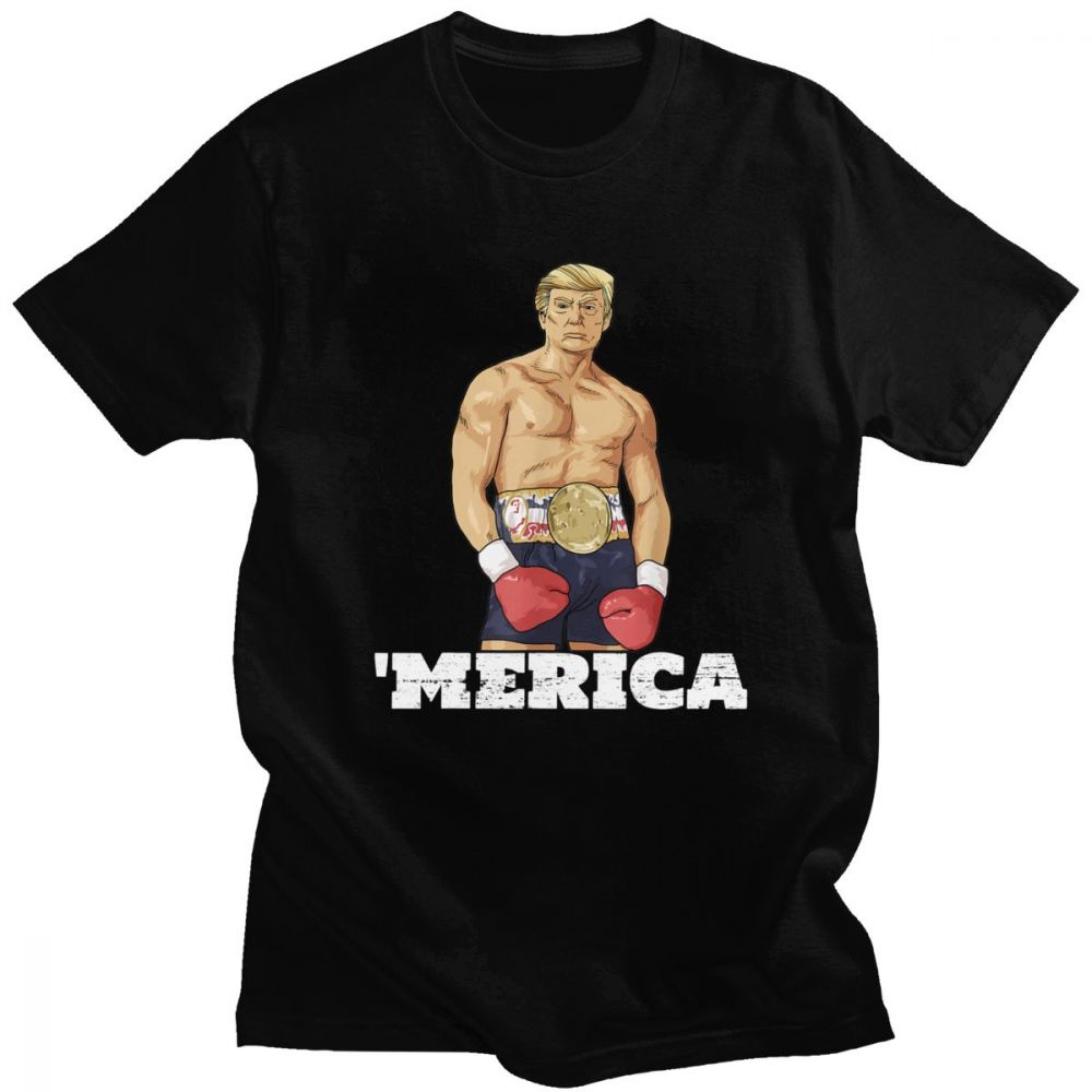 T-shirt Donald Trump America Boxe humour