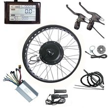 "Fat E-bike Conversion Kit 36/48V 250W-1500W LOLTRA Snow Ebike Kit Suitable for 20""/24""/26""x4.0 Fat Tyre(China)"