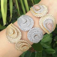Modemangel Fashion Merek Perhiasan AAA Zirkonia Pernikahan Wanita Anting-Anting Fashion Gelang dan Cincin Perhiasan Set(China)