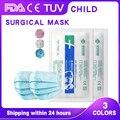 Детские одноразовые хирургические маски для детей Детская футболка для мальчиков и девочек, медицинская маска 3-слойные фанерные анти-зара...
