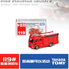 Такара Томи номером 119 восходит огонь грузовик сплав автомобиль Модель металл автомобиль Модель игрушка автомобиль