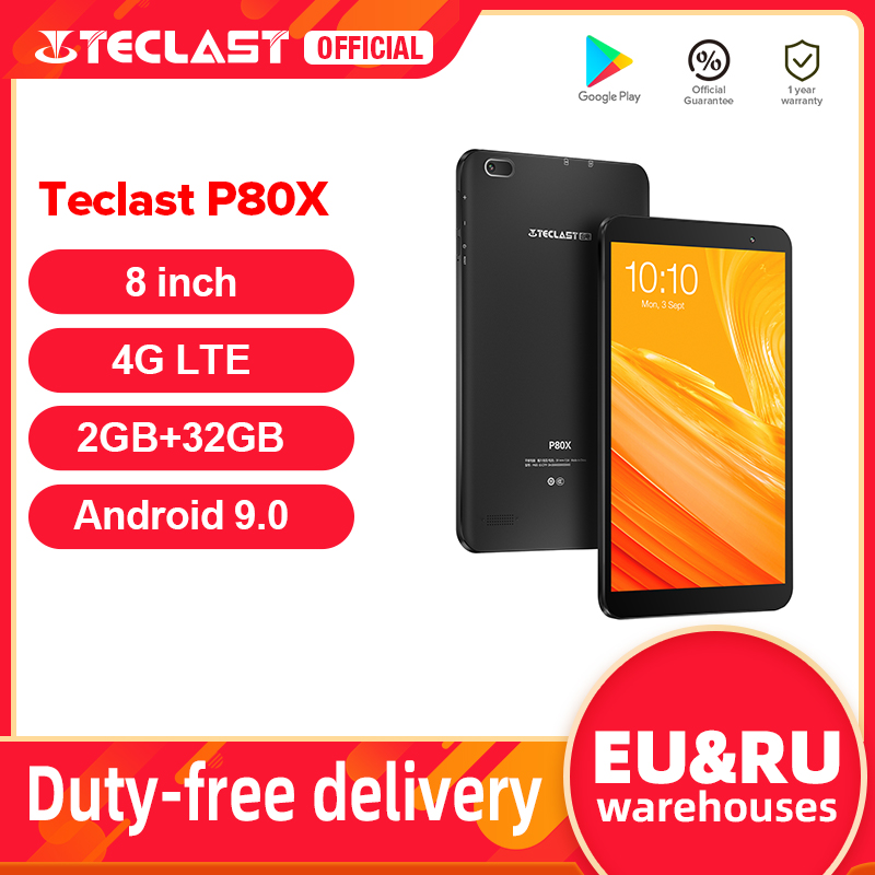 Teclast P80X 8 inch Tablet Android 9.0 4G Phablet SC9863A Octa Core 1280*800 IPS 2GB RAM 32GB ROM Tablet PC Dual Cameras GPS Tablets  - AliExpress