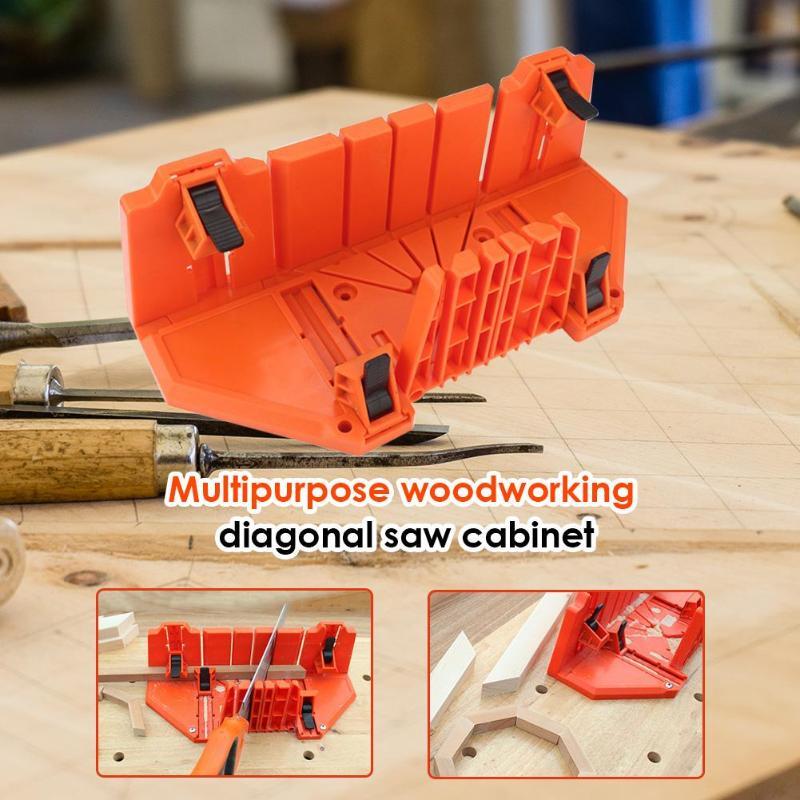 Multi-Zweck Kunststoff 14 inch Einstellbar Holz Schneiden Spann Gehrung Sah Fall Holzbearbeitung Spann Gehrungssäge Box Schneiden Werkzeuge