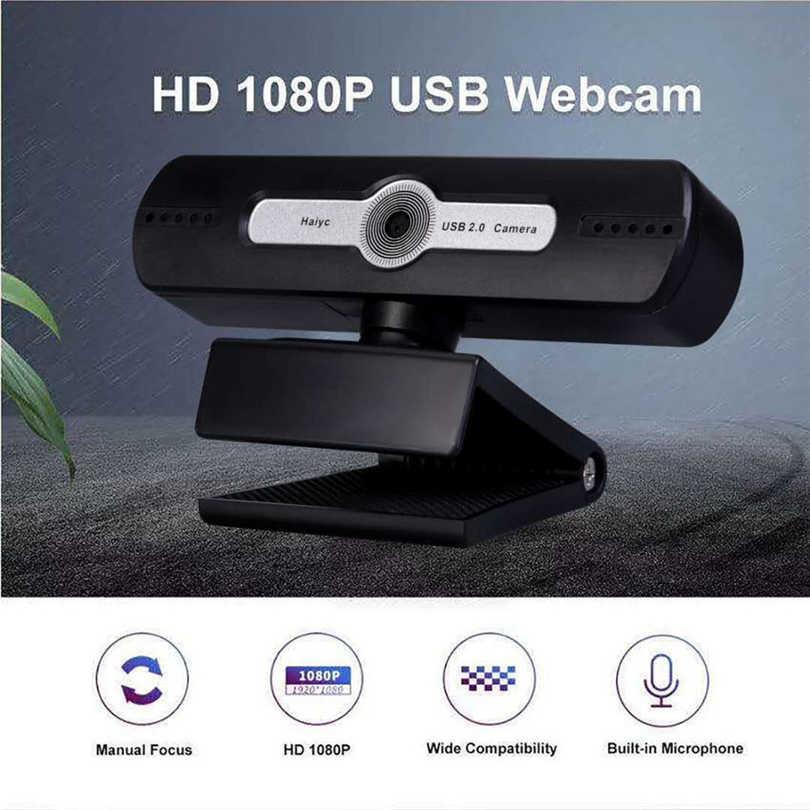 Full HD 1080P Веб-камера Настольный ПК веб-камера видео вызов веб-камера с микрофоном камера для прямого вещания видео J80