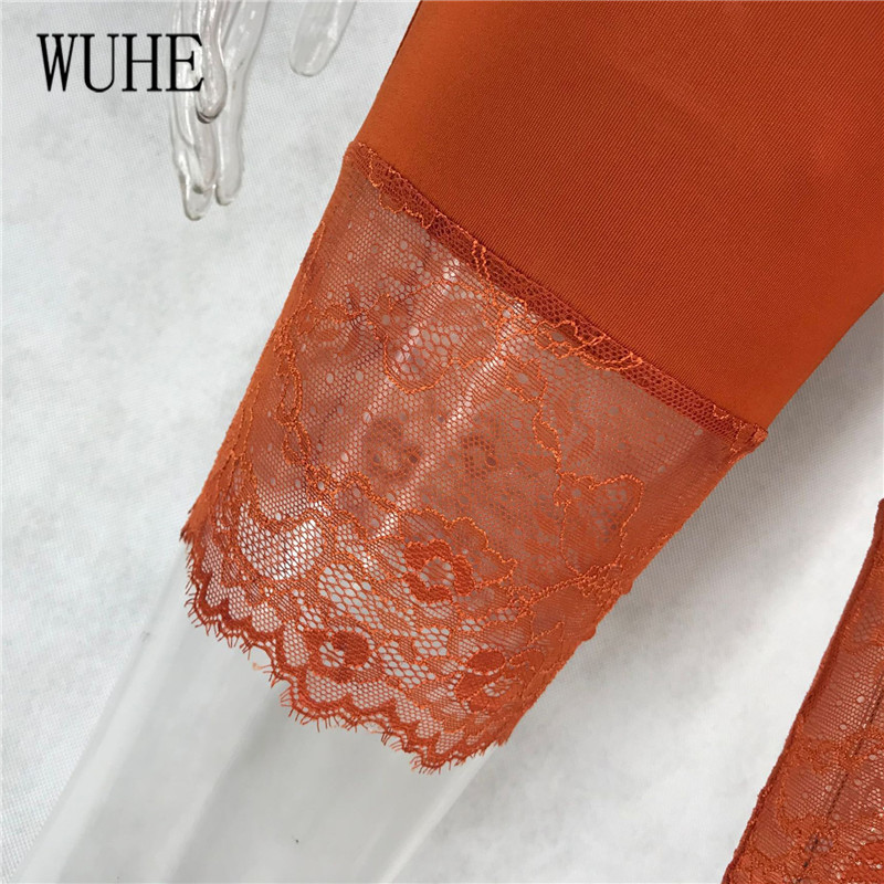 Hc7b7b12e955f49a6a83870d397a436c41 - WUHE Lace Patchwork Sexy Spaghetti Strap Jumpsuits Women Off Shoulder Sleeveless Elegant Bodycon Bandage Party Short Playsuits
