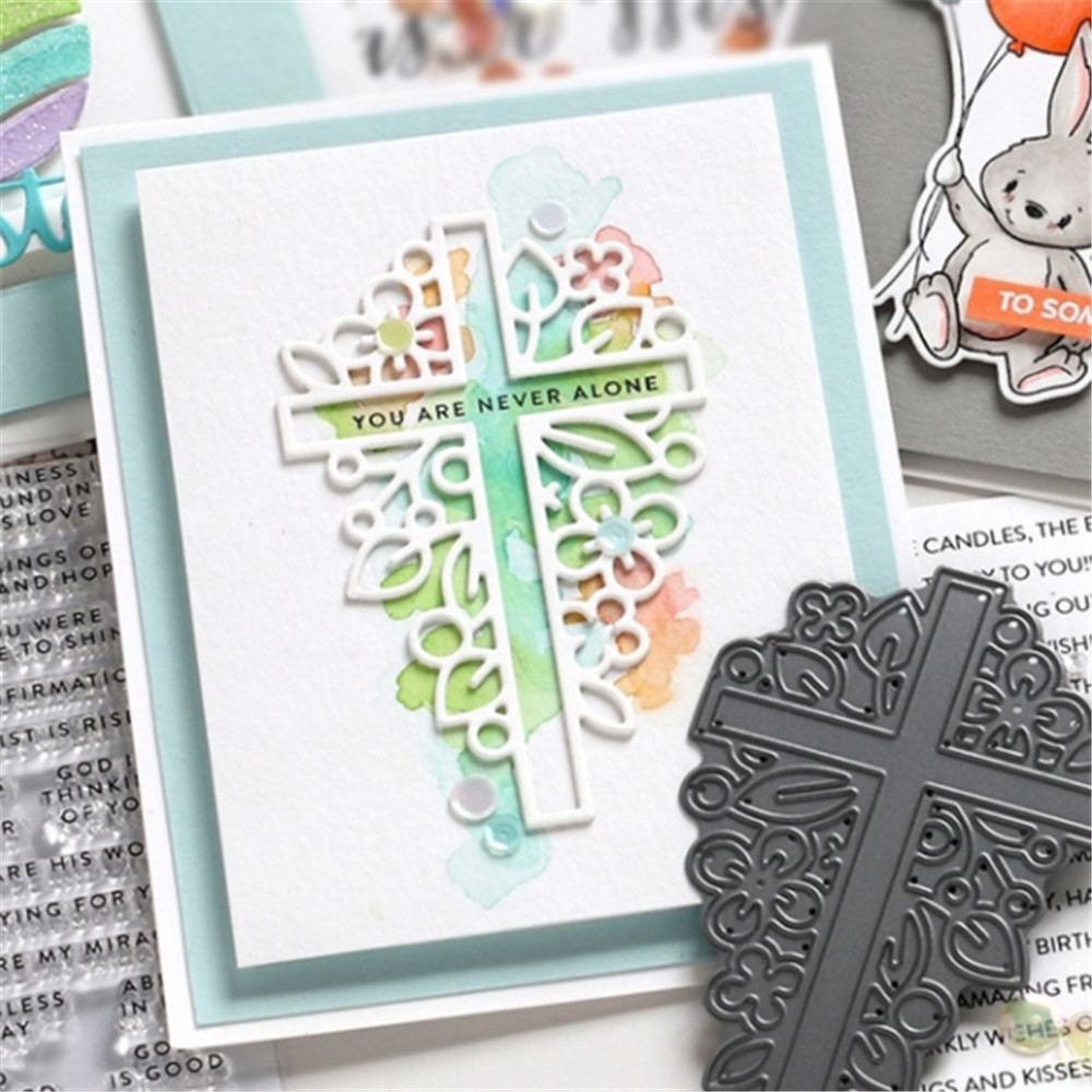 Religion Cross Shape Metal Cut Die Embossed Album Template For Gift Card Making Crafts 2019 New