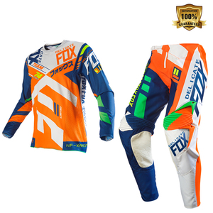 Delicate Fox Motocross Downhill Bike Off-road Gear Set 360 Divizion Full Set Jersey Pants Combo Orange Suit