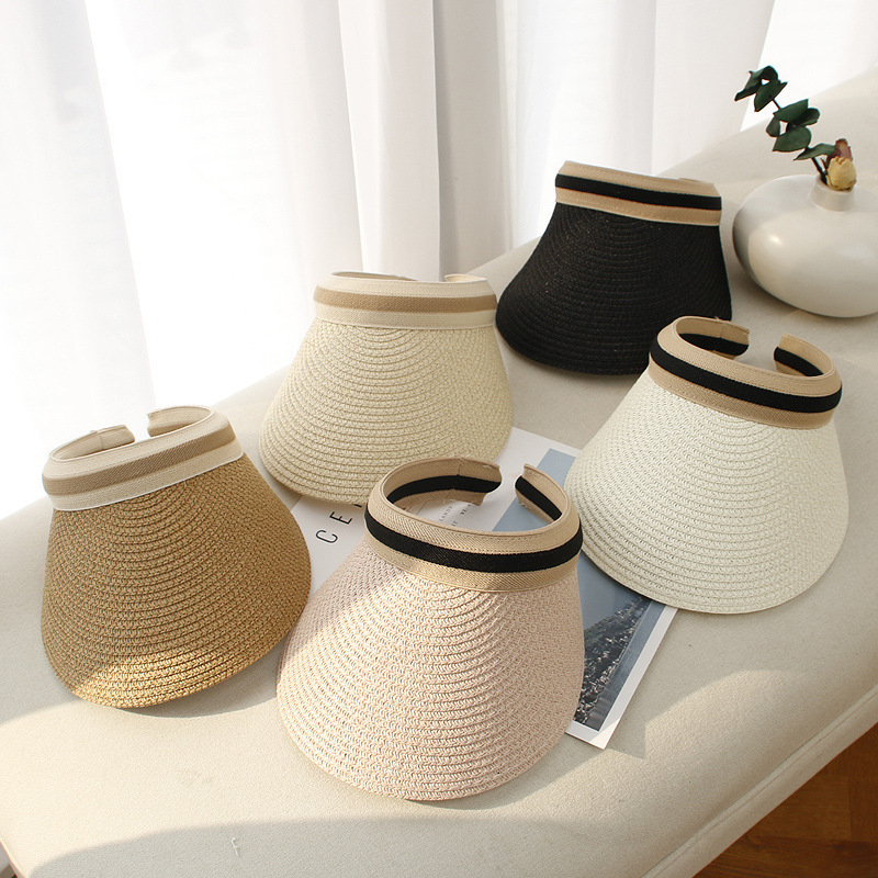 Hat Lady Korean Version Hat Straw Hat Empty Cap Summer Sun Protection hat Beach Hat