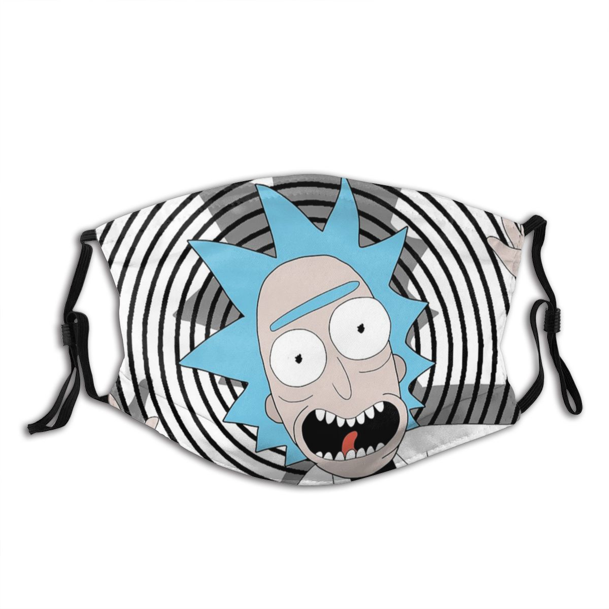 Rick Sanche Reusable Face Mask With Filter Rick And Morty Anti Bacterial Dustproof Mask Protection Cover Respirator Mouth Muffle