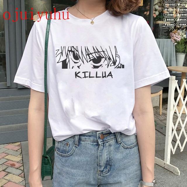 Hunter X Hunter T Shirt women Kawaii Cartoon Killua Hisoka Graphic Tees Japanese Anime Harajuku T-shirt Unisex Tops Tshirt 5