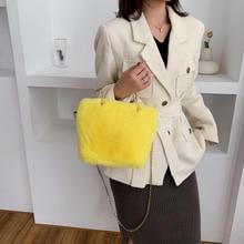 Casual Simple Women Solid Color Shoulder Underarm Bags Autumn Fashion Plush Soft Fluffy Large Capacity Female Shoulder Handbags