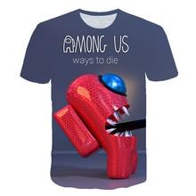 Printed T-Shirt Clothing Tops Short-Sleeve Among Us Toddler Girls Boys Kids Children's