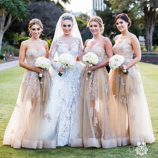 Free Shipping Bridesmaid Dresses 2015 Sexy Sweetheart Exquisite Lace Appliques Beading Custom Made Party Gown Summer Dress