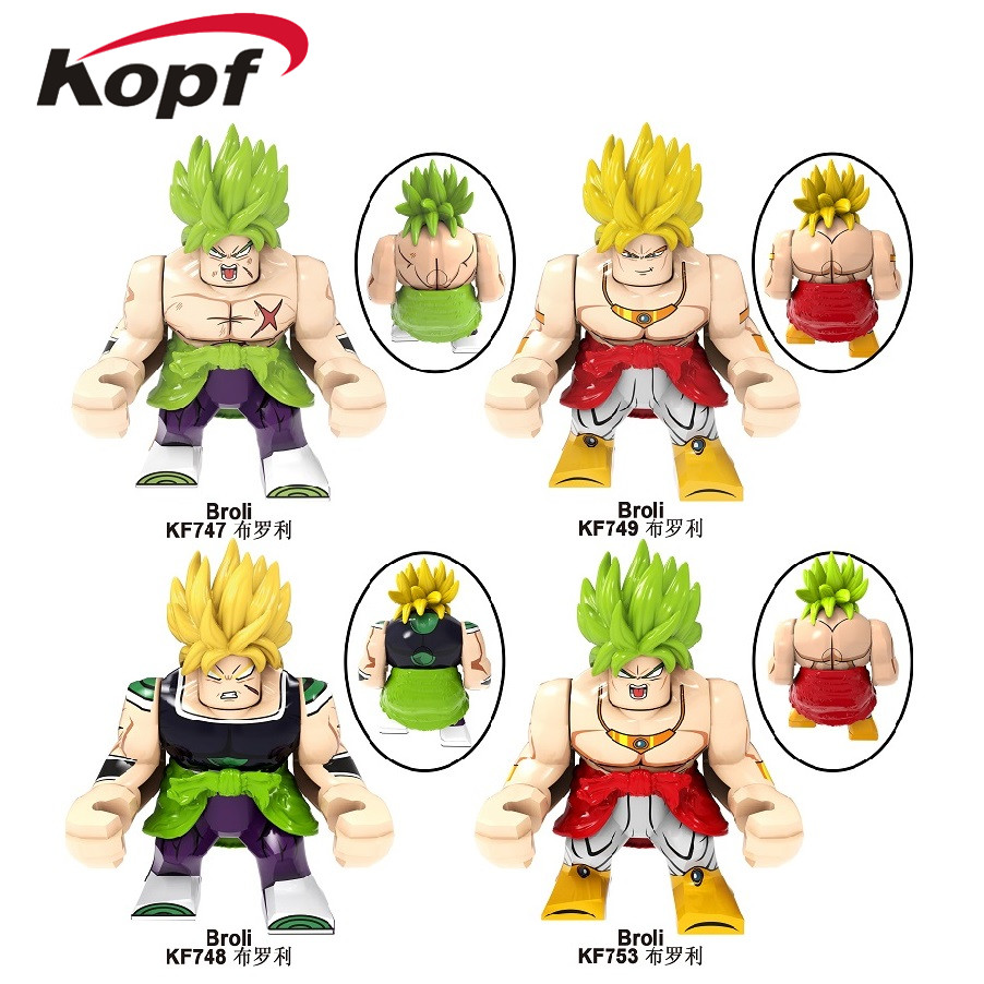 KF6073 Single Sale Building Blocks Big Figures Model Dragon Ball Broli Gogeta Son Goku Vegeta Vegetto Mira Toys For Children