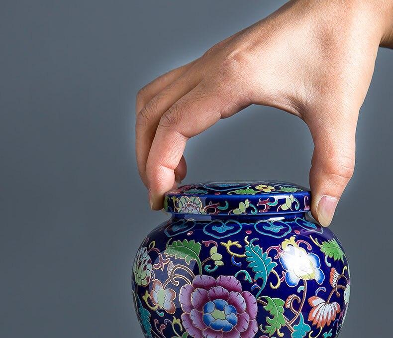 Latas de chá cerâmica mini selado latas
