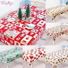 Merry Christmas PVC Table Cloth Noel 2019 Decor For Home Xmas Gift Items Product Ornament New Year 2020
