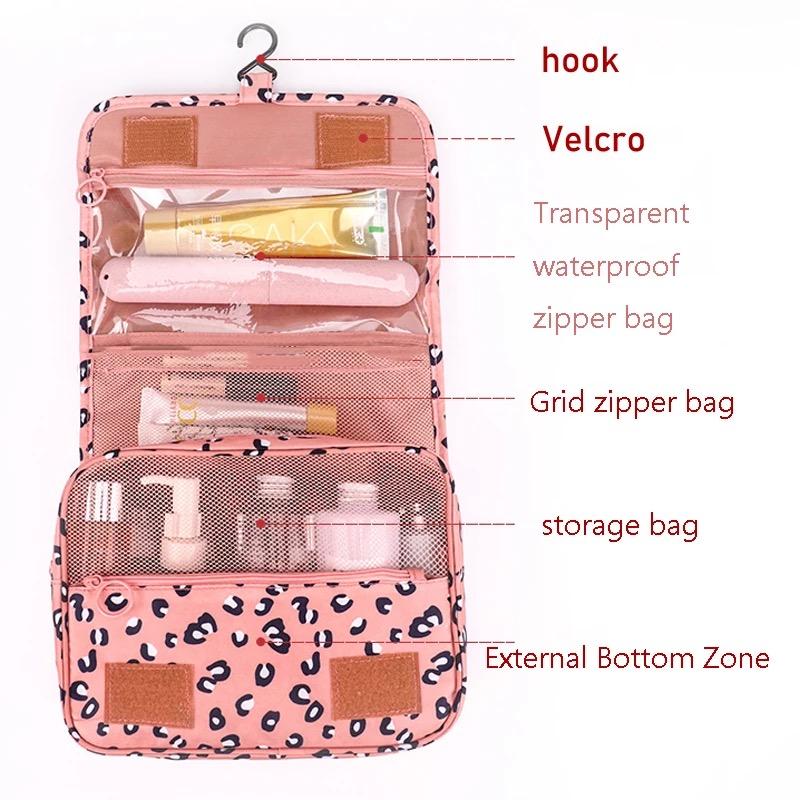 High Capacity Makeup Bag Travel Cosmetic Bag Waterproof Toiletries Storage Bags Travel Kit Ladies Beauty Bag Neceser Organizer