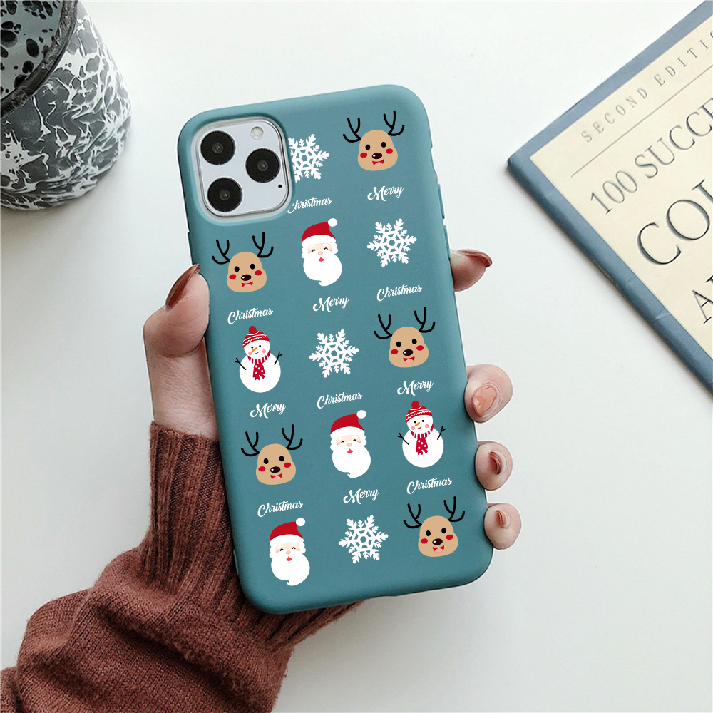 Funny Cartoon New Year Christmas Case For iPhone 12 Pro