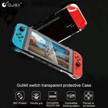 Gulikit funda de cristal transparente para Nintendo Switch, carcasa protectora para Switch Lite NS Switch 360, Compatible con ROUTE AIR Dock