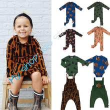 Pre-sale Brand Kids Romper 2019 New Baby Boys Long Sleeve Autumn Rompers Toddler Girls Cotton Leopard Print Jumpsuit 1-4 Y(China)