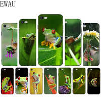 EWAU frog Animals Soft Silicone Phone Cover Case for iphone 5 5S SE 6 6s 7 8 Plus X XR XS 11 Pro MAX
