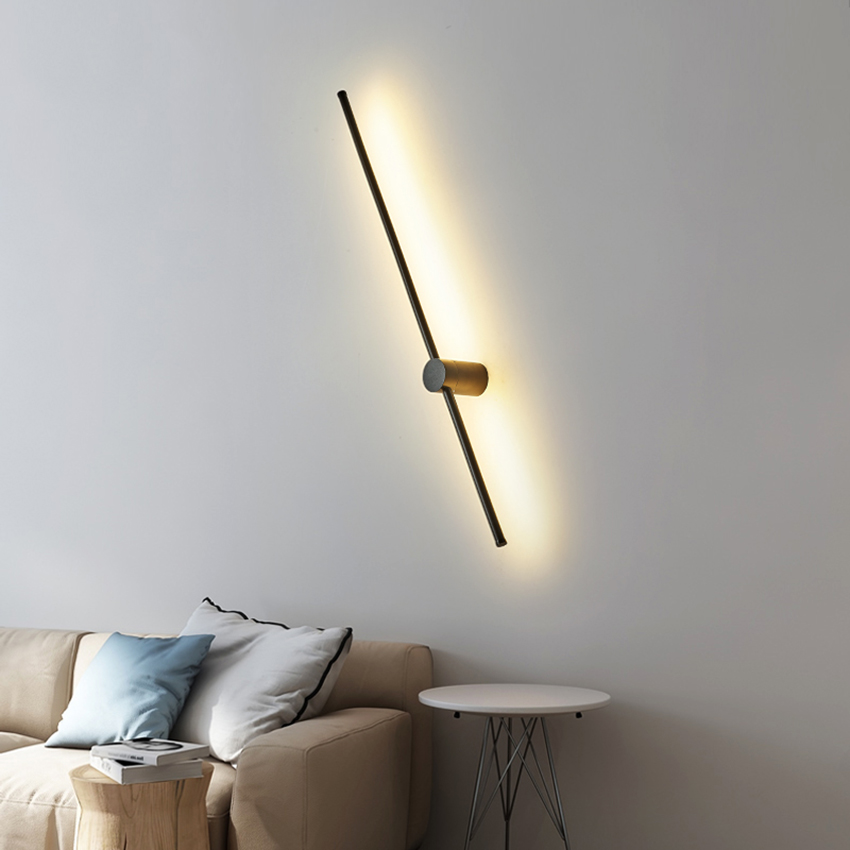 Nordic Long Line Type Led Wall Lights Lighting LED Acrylic Lampshade Wall Lamp Background Indoor Deco Wall Lamps Aisle Luminarie