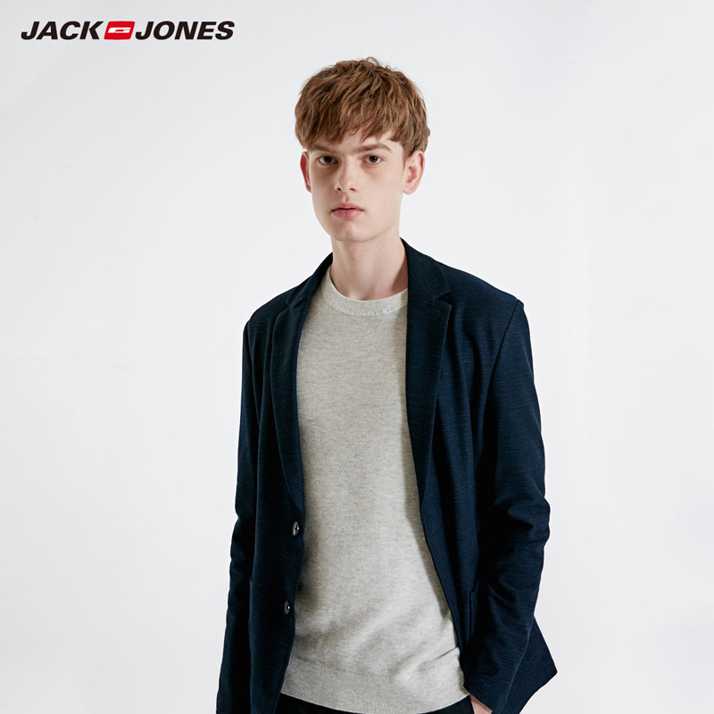 JackJones Men's Slim Fit Cotton Blazer Basic Menswear| 219108507