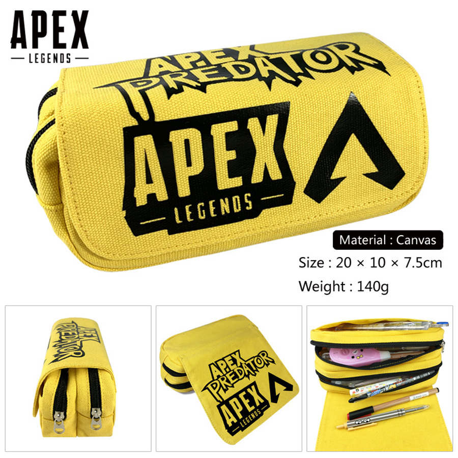 Game Apex Legends Zipper Travel Cosmetic Bag Boys Girls Canvas Pencil Case Student Penbag Cartoon Makeupbag Stationery Gift