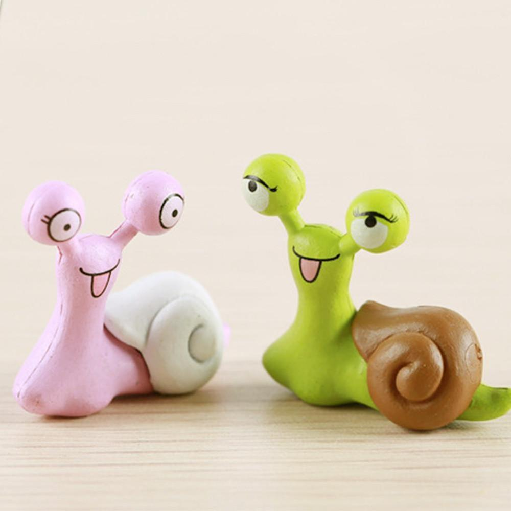 Warm Moss Micro Landscape Jewelry Cute Eye Snail Doll Combination DIY Assembled Toy Ornaments Lovely  Resin Snail