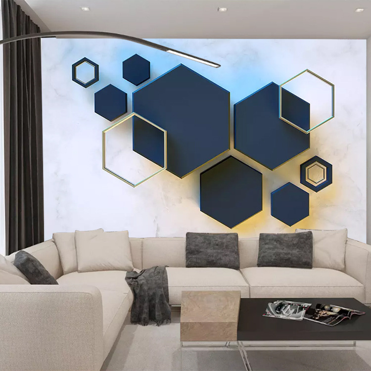 8D Northern European-Style TV Backdrop Wallpaper Geometry Graphics Minimalist Modern TV Wall Cloth Sofa Bedroom Living Room Wall