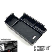 Аксессуары для автомобилей с ручкой для межкомнатной двери подлокотники ящик для хранения Организатор Чехол для Audi A3 S3 A4 B8 B9 A5 S5 Q2 Q2L Q3 Q5 Q5L