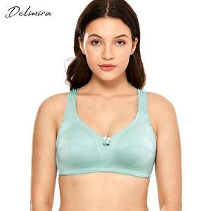 Image 1 - DELIMIRA Womens Non Padded Wire Free Comfort Lift Full Coverage Support Plus Size Bra