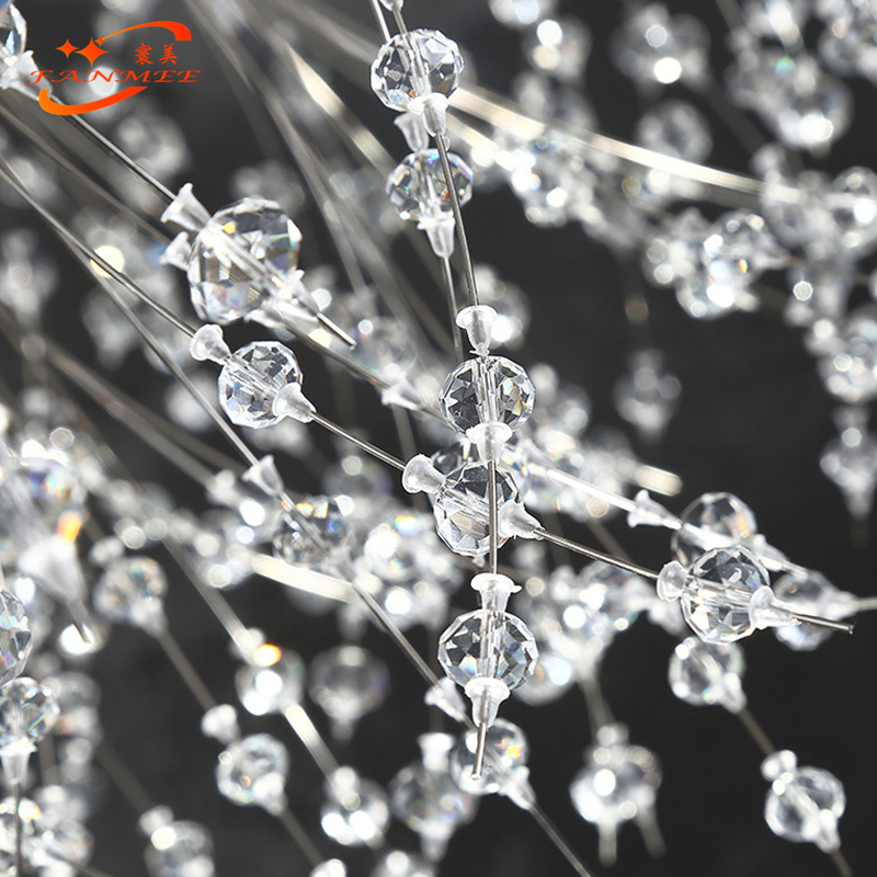 Hc7ba16cb3895415b8b08dbf128ce71d5P Modern LED Crystal Chandelier Light Pendant Hanging Lamp Dandelion Cristal Chandelier Lighting for Living Dining Room Decoration
