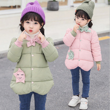 купить Children Wadded Jacket Girl Winter Outerwear Warm Coat Cotton-padded Parkas kids Girl Clothing Autumn Winter Jackets For Girls по цене 856 рублей