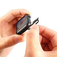 Conector adaptador para Apple Watch SERIE DE gomillas 6 SE 5 4 3 2 1, correa de iWatch 42mm 38mm 44mm 40mm, adaptador de cierre de acero inoxidable