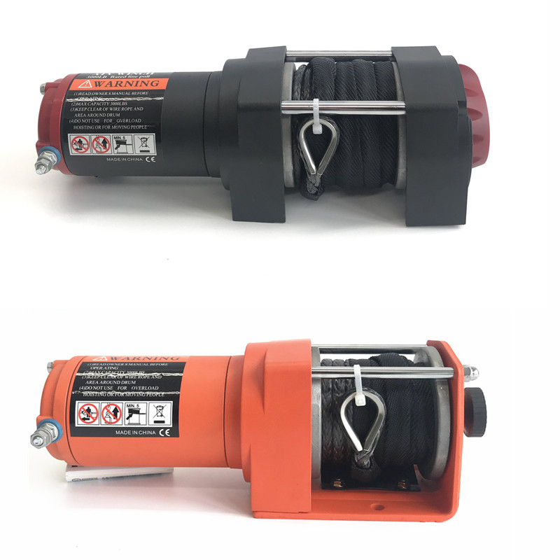12v Electric Winch - 3000lb Dyneema Synthetic Rope - ATV ,Off Road  Two Options Electric Winch