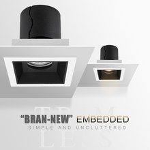 SCON Indoor Black White Rotable Trim Integrated ceiling Embedded dimming Lamp Indoor LED COB Recessed Focus Spot Lights