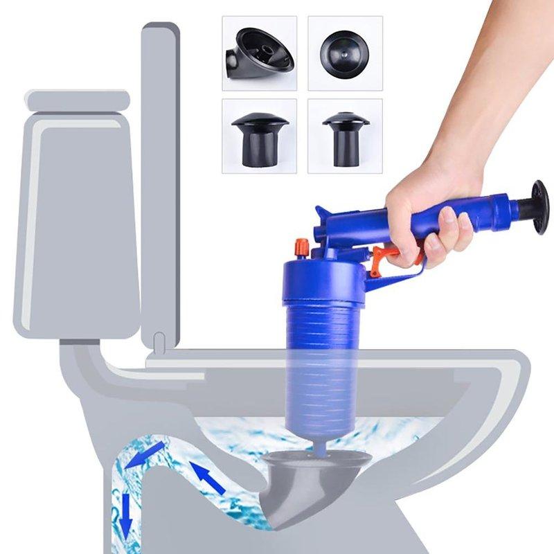 Yüksek basınçlı hava drenaj Blaster pistonlu pompa borusu lavabo takunya banyo sökücü ev banyo mutfak tahliye temizleyici