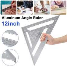 3in1 12 Polegada liga de alumínio triângulo ângulo régua quadrados para madeira velocidade ângulo quadrado transferidor réguas ferramentas medição