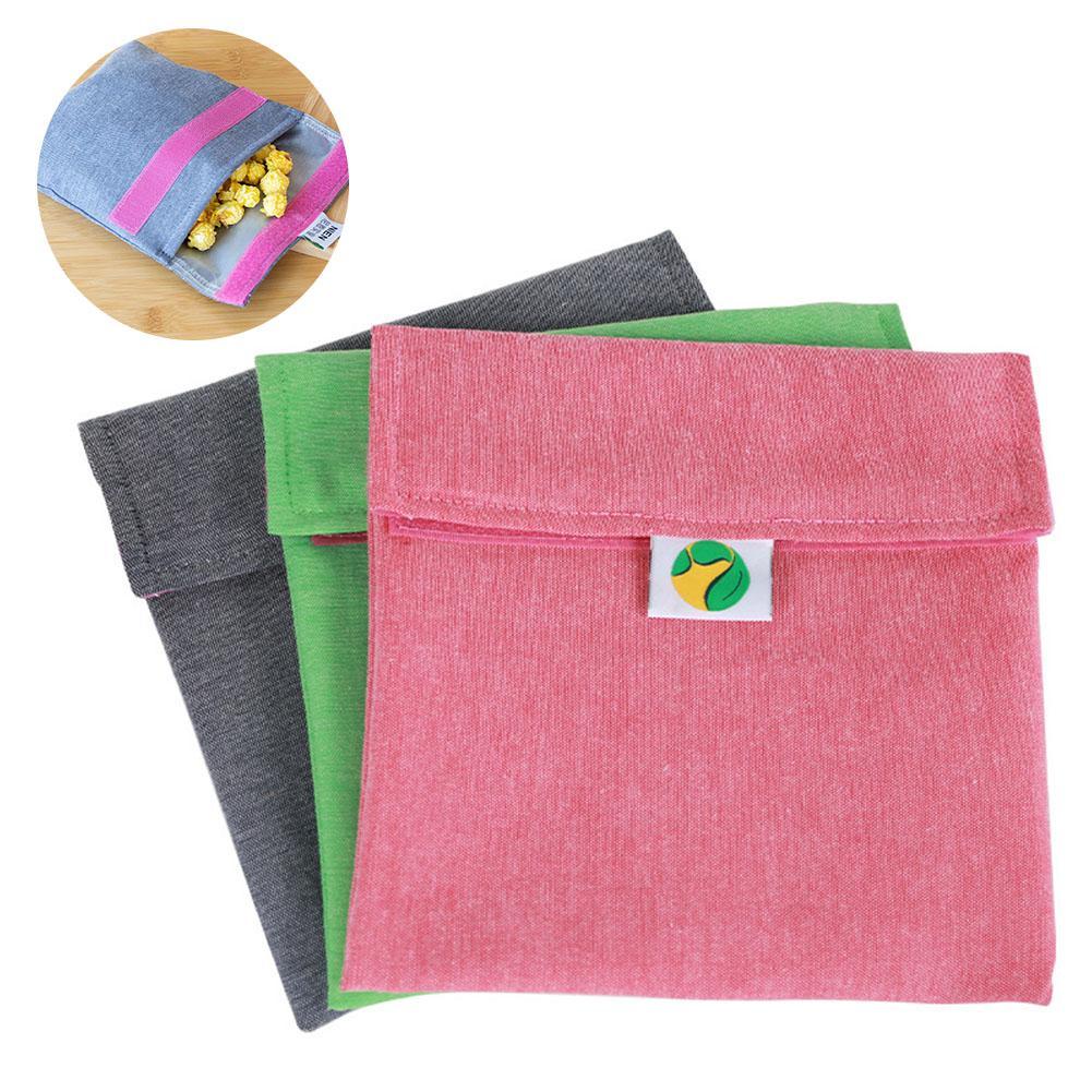 Многоразовая моющаяся сумка для сэндвичей, многофункциональный мешочек для хранения фруктов, портативный карман